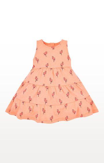 Mothercare | Coral Printed Flamingo Dress