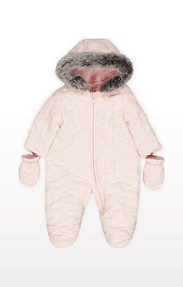 Mothercare | Pink Quilted Snowsuit
