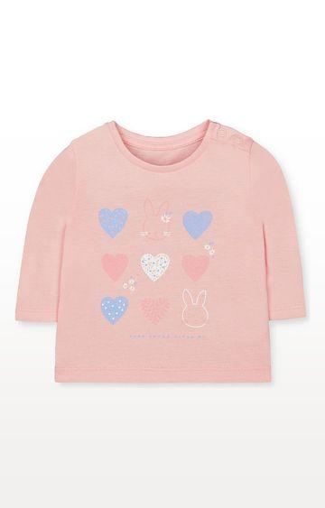 Mothercare | Pink Hearts Bunny T-Shirt