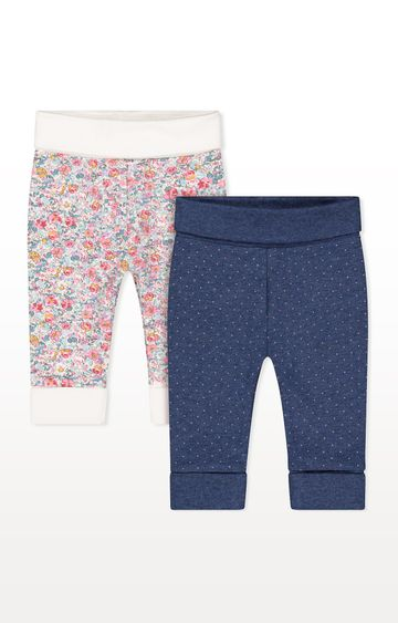 Mothercare | Floral Joggers - Pack of 2