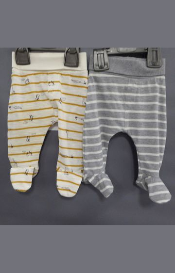 Mothercare | Yellow and Grey Striped Pants