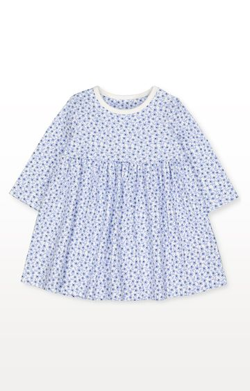 Mothercare | Blue Ditsy Floral Dress