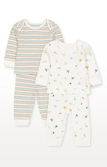 Mothercare | Alphabet and Stripe Pyjamas - Pack of 2