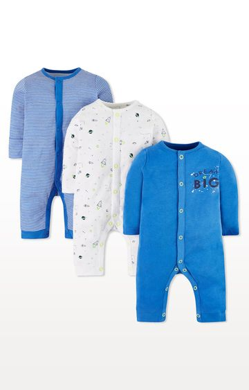 Mothercare   Little Space Sleepsuits - Pack of 3