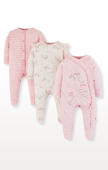 Mothercare | Mummy and Daddy Sleepsuits - Pack of 3