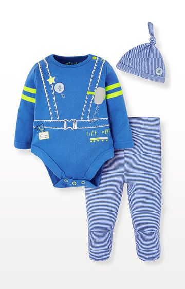Mothercare | Space Bodysuit, Leggings and Hat Set