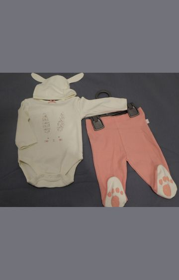 Mothercare | Yellow and Coral Printed Twin Set