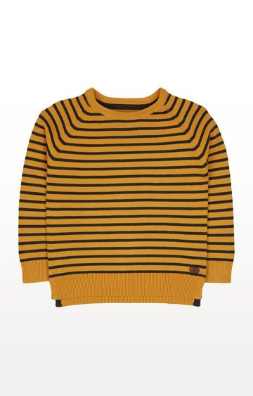 Mothercare | Mustard Striped Knitted Jumper