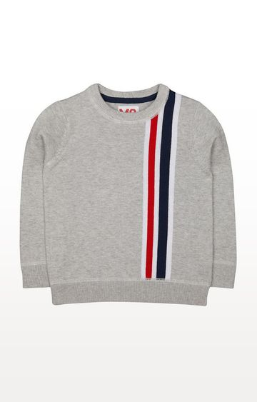 Mothercare | Grey Striped Knitted Jumper