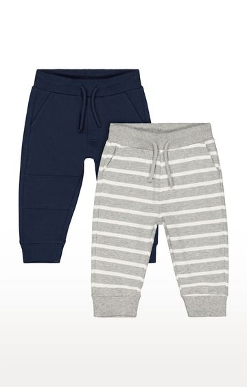 Mothercare | Navy and Grey Striped Casual Joggers
