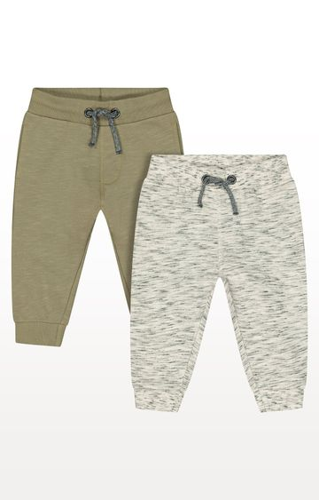 Mothercare | Oat and Khaki Joggers - Pack of 2