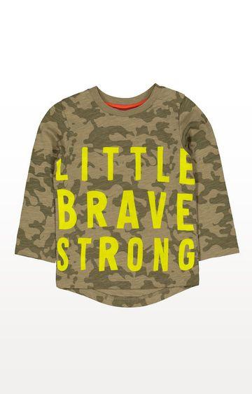 Mothercare | Green Camo Little Brave T-Shirt
