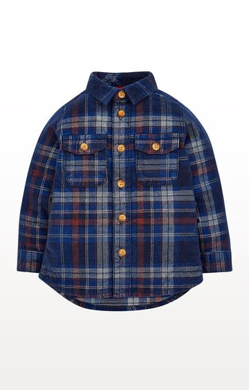 Mothercare | Navy Cord Checked Shirt