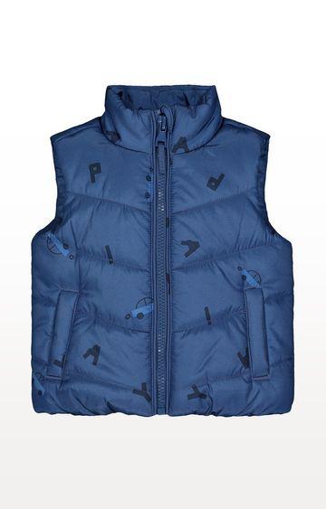Mothercare | Blue Car Fleece-Lined Gilet