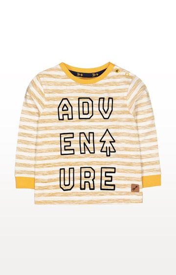 Mothercare   Mustard Stripe Adventure T-Shirt