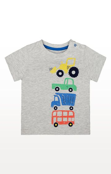 Mothercare | Grey Vehicle T-Shirt