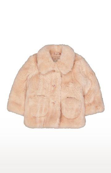 Mothercare   Pink Faux Fur Coat