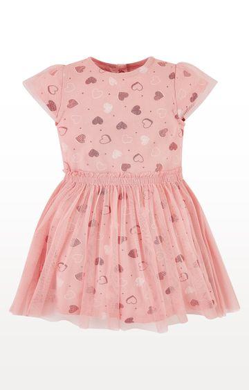 Mothercare | Mesh Layer Heart Twofer Dress