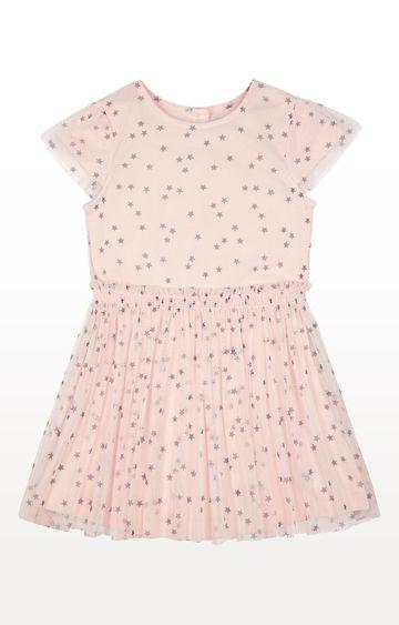 Mothercare   Pink Stars Mesh Twofer Dress