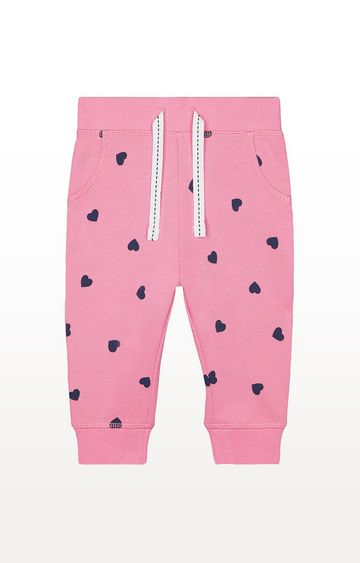 Mothercare | Pink Navy Heart Joggers