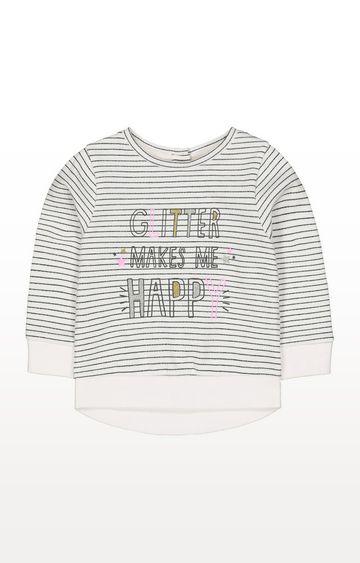Mothercare | Stripe Glitter Makes Me Happy Sweat Top