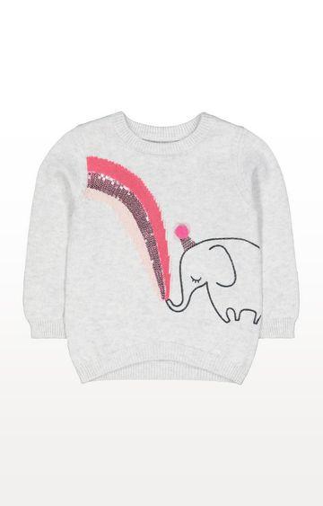 Mothercare | Grey Elephant Knit Jumper