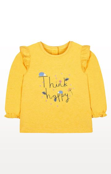 Mothercare | Yellow Think Happy Hedgehog T-Shirt