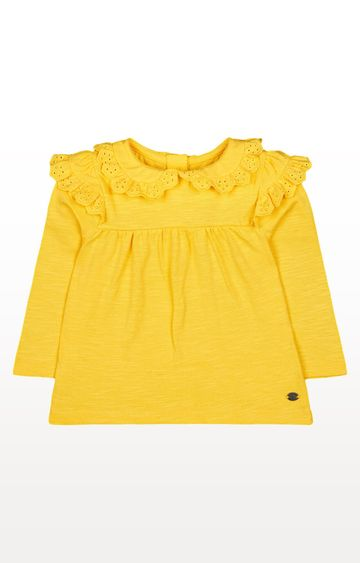 Mothercare | Yellow Broderie Frill Blouse