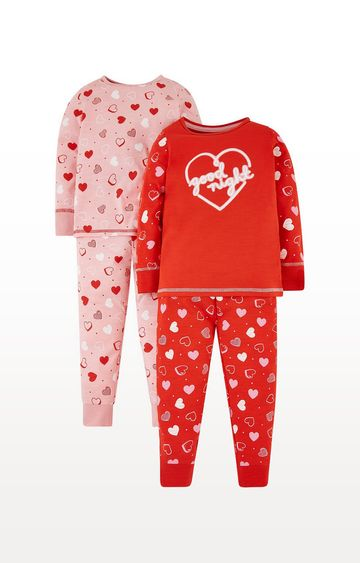 Mothercare   Red Heart Pyjamas - 2 Pack
