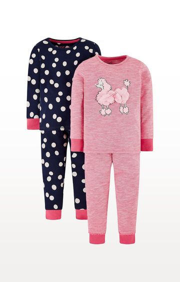 Mothercare   Spot And Poodle Pyjamas - 2 Pack