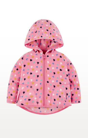 Mothercare | Pink Hearts Hooded Fleece