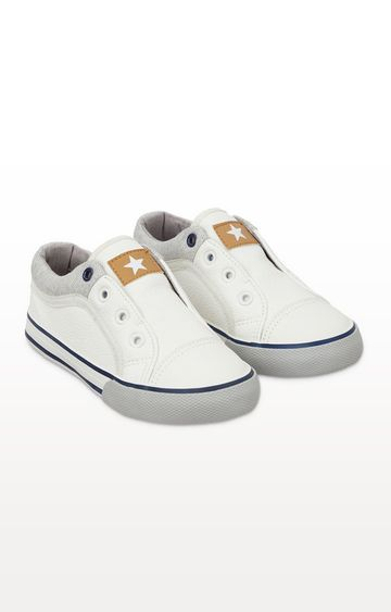 Mothercare | White Laceless Trainers