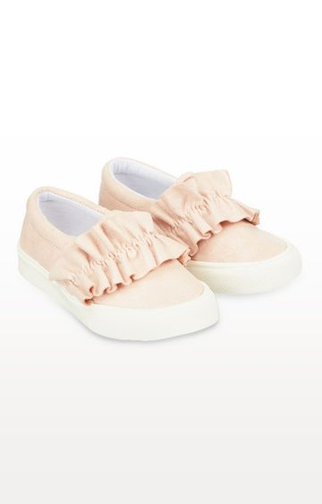 Mothercare | Pink Ruffle Slip-On Trainers