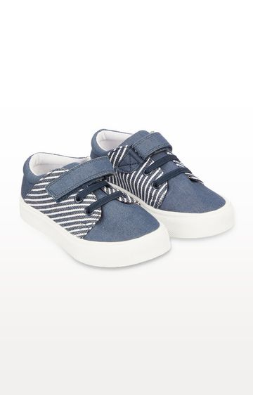 Mothercare | Denim Blue Stripe Trainers