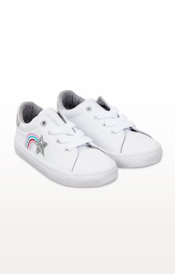 Mothercare | White Glitter Star Trainers