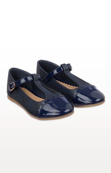 Mothercare | Navy T-Bar Ballerina Shoes
