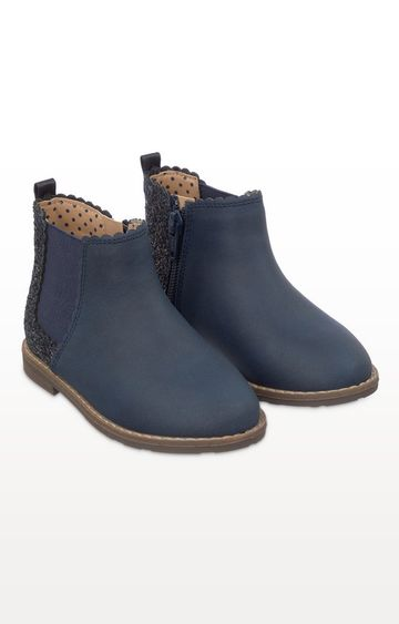 Mothercare | Navy Glitter Chelsea Boots