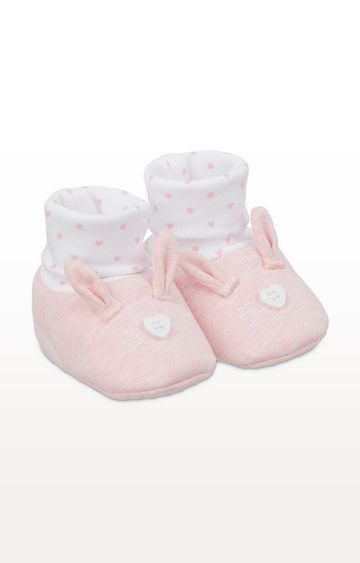 Mothercare | Pink Bunny Sock Top Booties