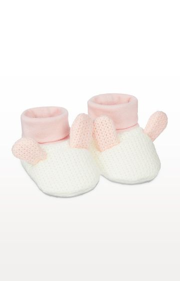 Mothercare | Pink Knitted Bunny Sock Top Baby Booties