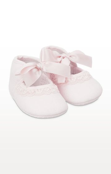Mothercare | Pink Lace Pram Shoes