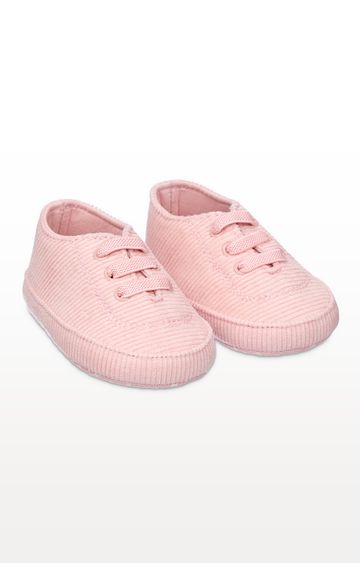 Mothercare | Pink Cord Pram Trainers