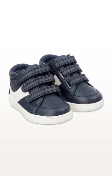 Mothercare | First Walker Navy Hi-Top Trainers