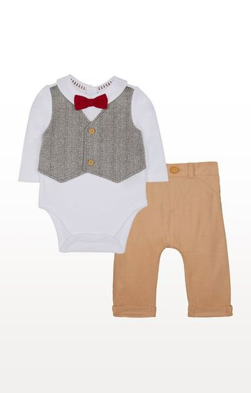 Mothercare   Mock Waistcoat And Cord Trousers Set