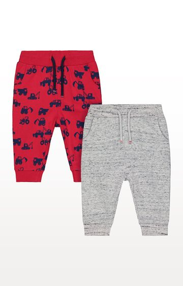 Mothercare | Red and Grey Tractor Joggers - Pack of 2