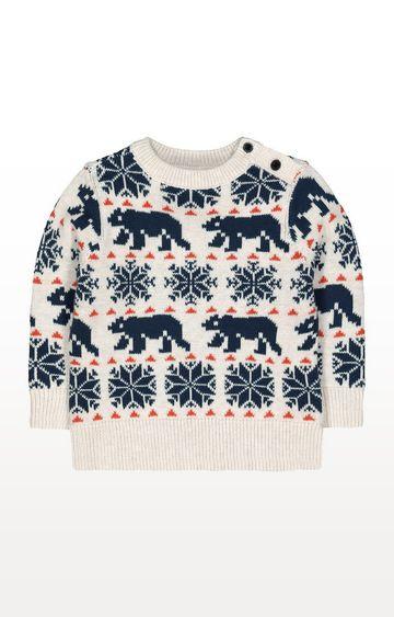 Mothercare | Winter Bear Fairisle Knit Jumper