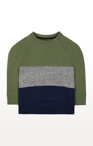 Mothercare | Khaki Stripe Sweat Top