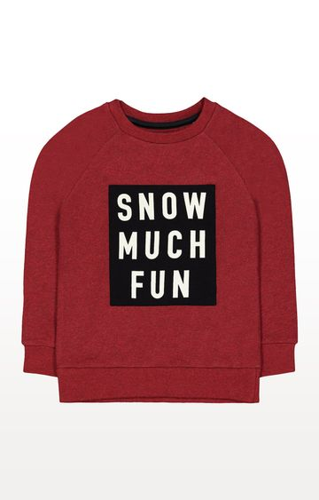 Mothercare | Red Snow Much Fun Sweat Top