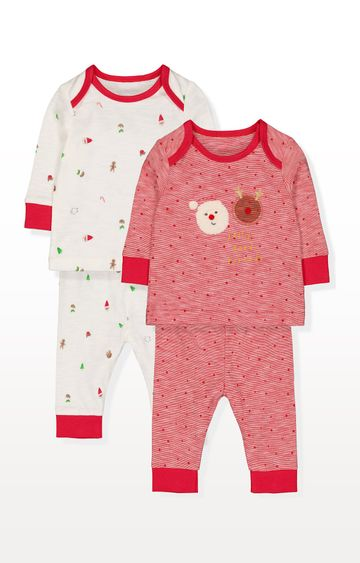 Mothercare | Festive Christmas Santa Pyjamas - Pack of 2