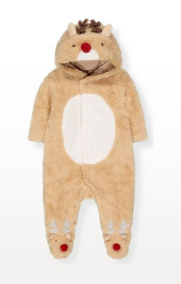 Mothercare   Reindeer Fluffy All In One