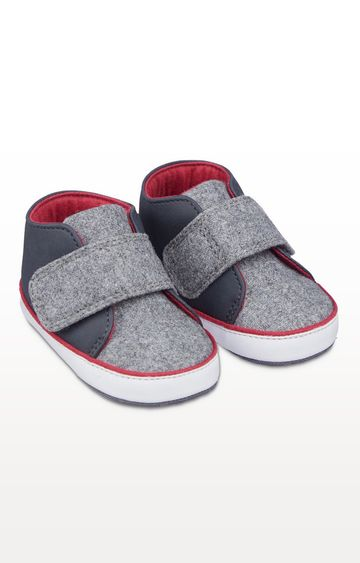 Mothercare | Grey Felt Pram Shoes